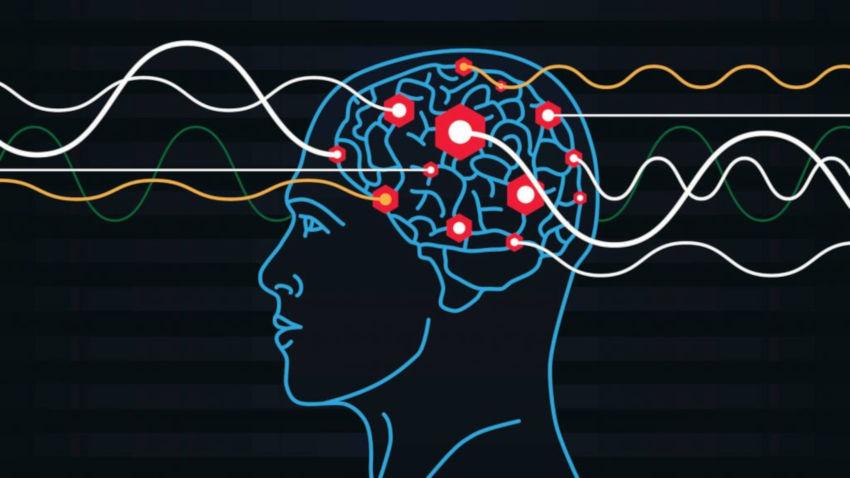 схема мозг электромагнитные волны